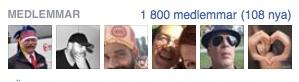 1800medlemmar